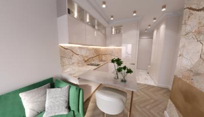 3d тур по однокомнатной квартире 3D Model
