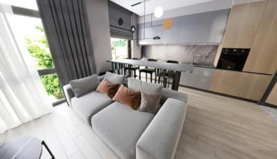 3d визуализация 3-х комнатной квартиры с разрешением 10K 3D Model