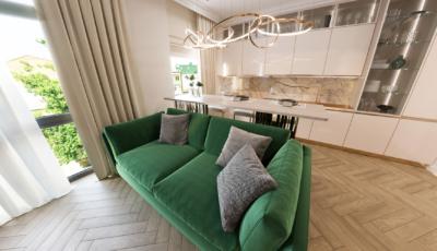 3d render трёхкомнатной квартиры 3D Model