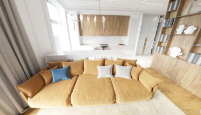 Виртуальный 3d тур по 3х комнатной квартире 3D Model