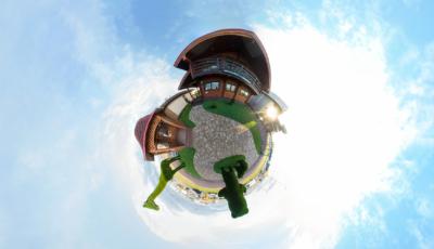 Зимний дом из двойного бруса «Мартин» 3D Model