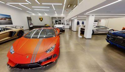 Matterport тур по автосалону Lamborghini 3D Model